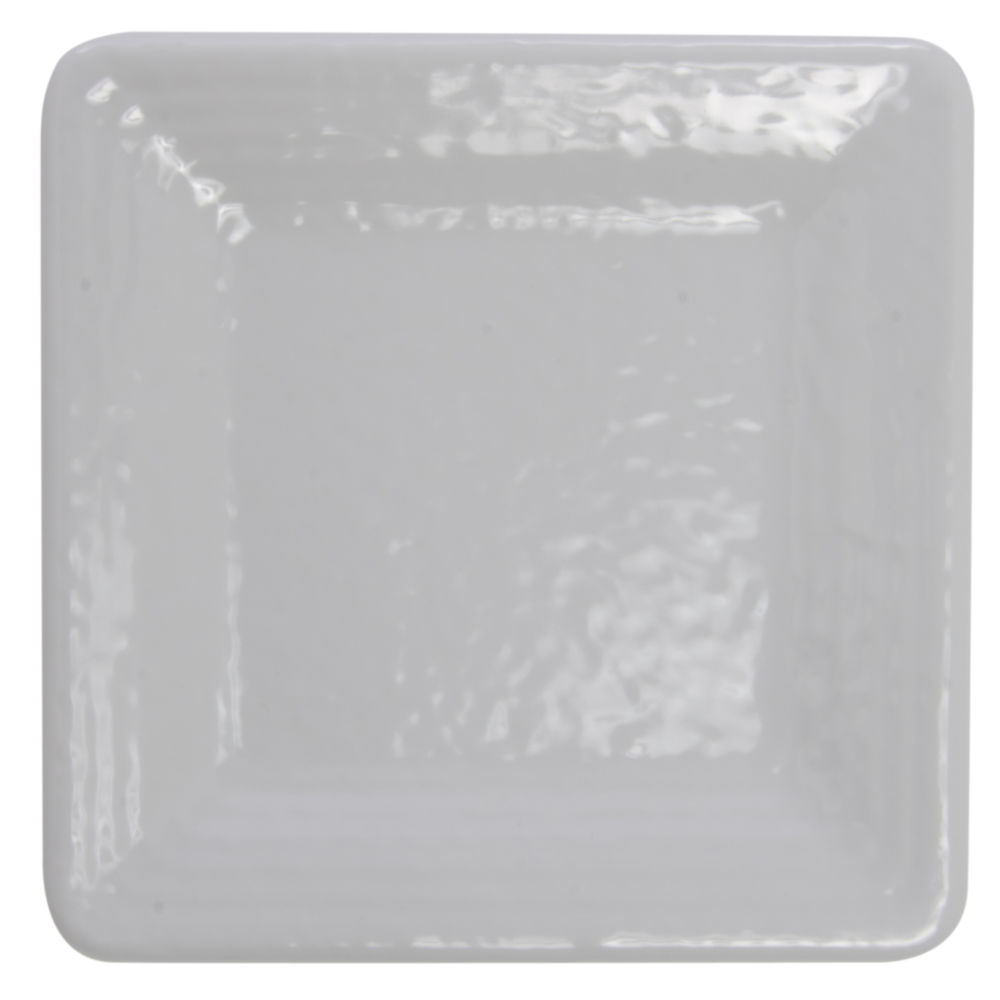 Elite Square Melamine Plate Pebble Creek 9 x 9 White