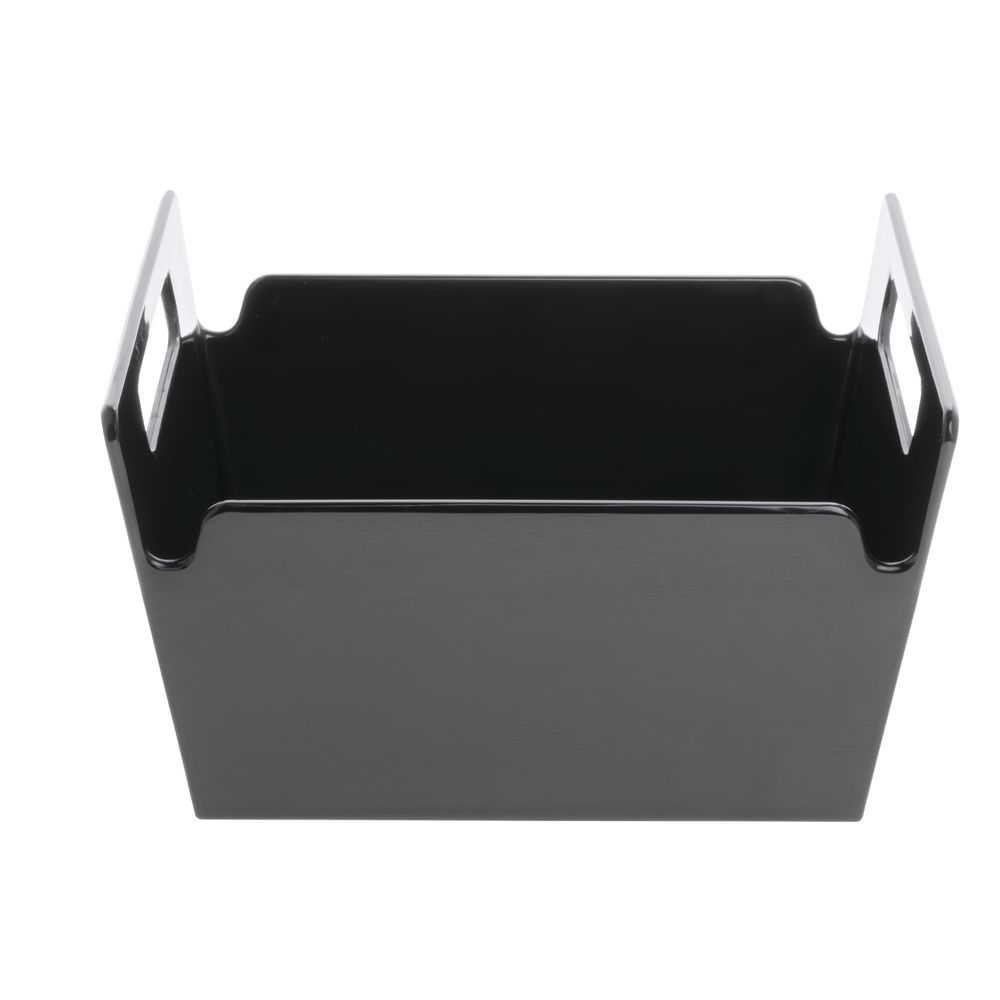 BOWL, LARGE, BLACK MELAMINE, 10X10X5.51