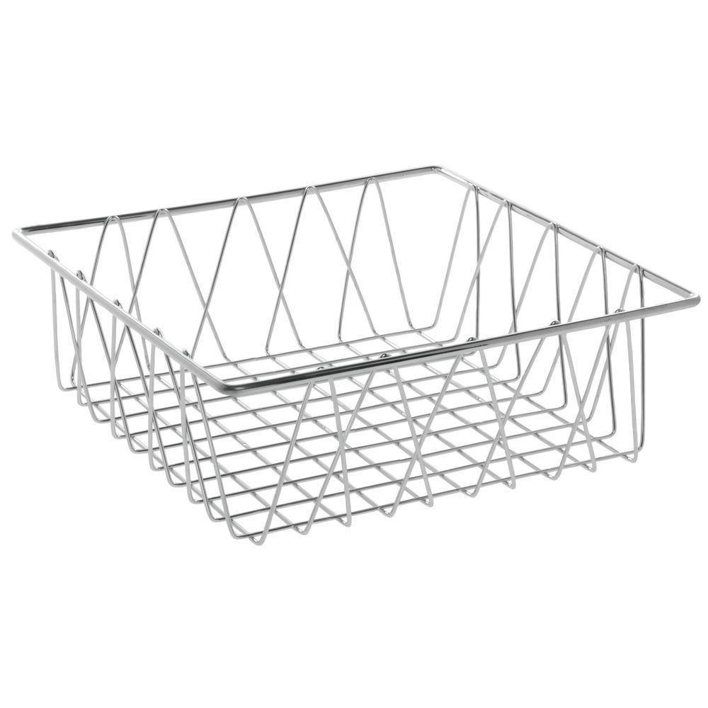 hubert u00ae square chrome plated steel wire basket