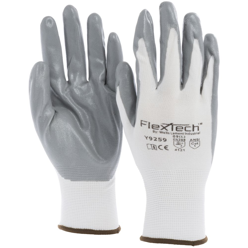 Tucker Safety FlexTech™ Work Gloves with Nitrile Palm Large