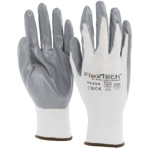 GLOVE, FLEXTECH, LARGE, NITRILE PALM COATED
