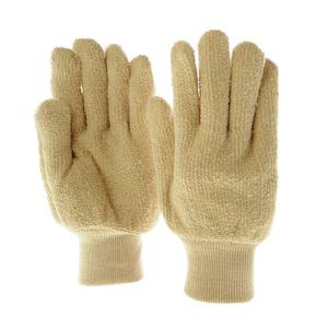 GLOVE, KNIT WRIST, TERRY CLOTH