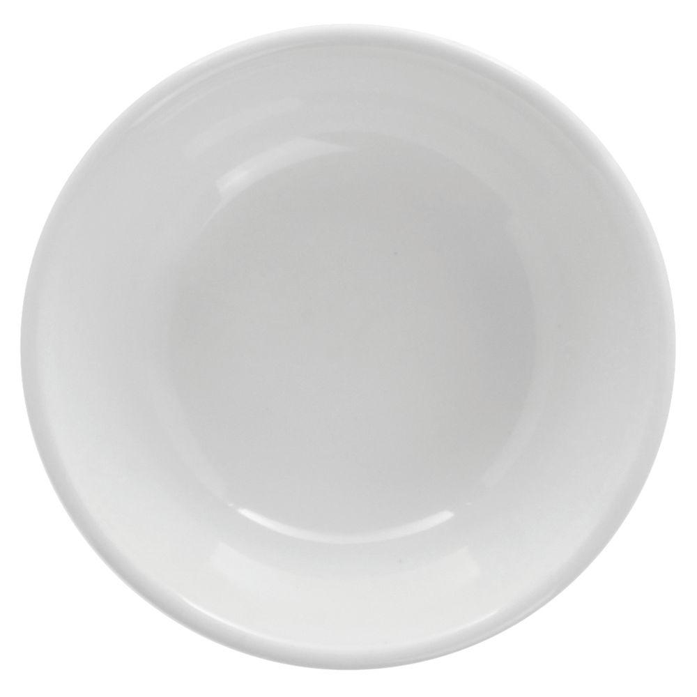 Hubert Rolled-Edge Oatmeal Bowl 10 Oz Bright White Stoneware Dishes
