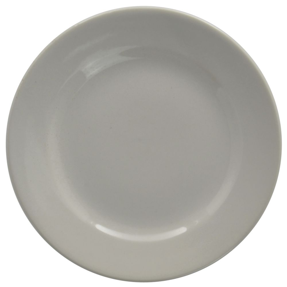 """Hubert Rolled-Edge Bread + Butter Plate 6 1/2"""" Dia Bright White Stoneware Dishes"""