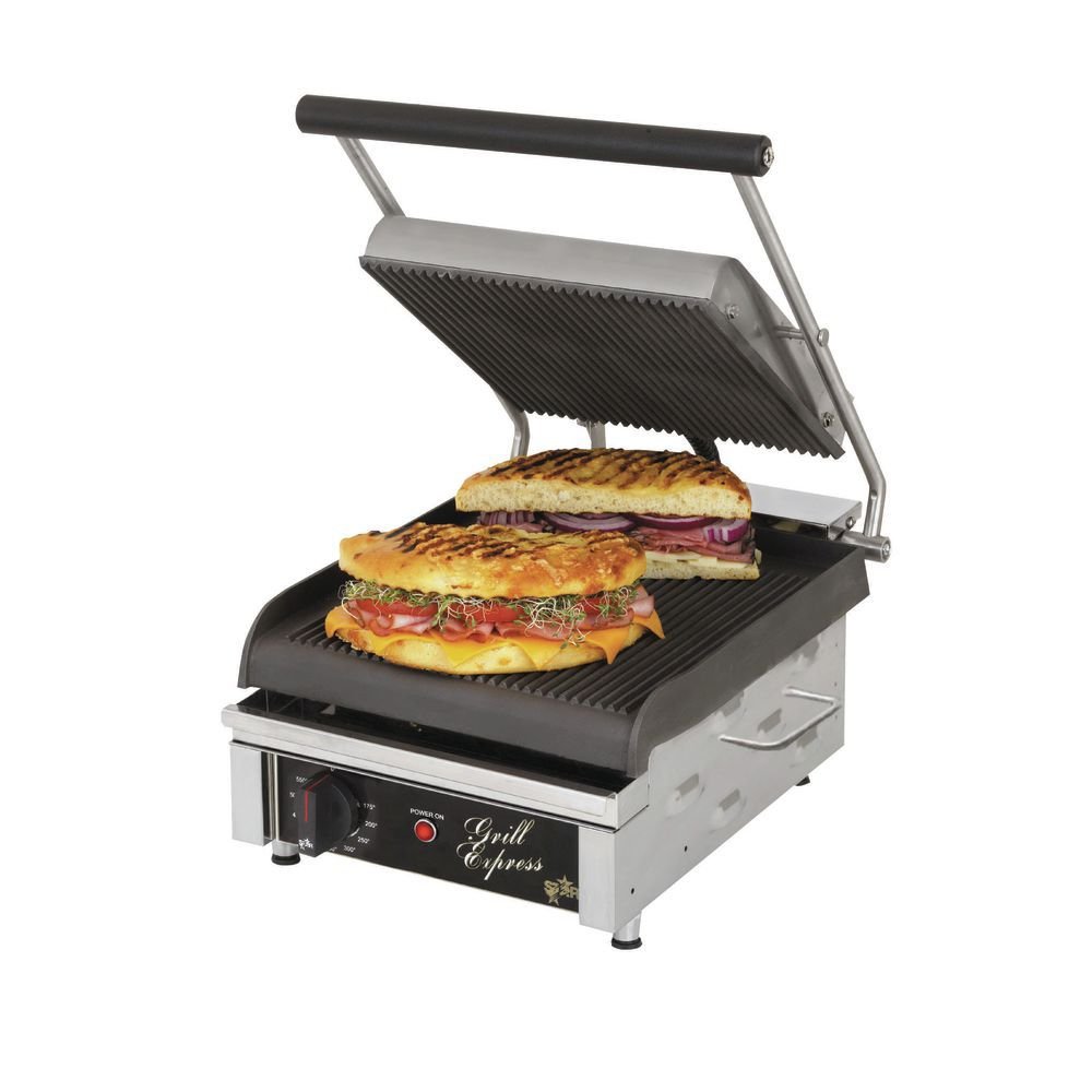 GRILL PANINI GRVED 120V 15.75X19.88X10.8