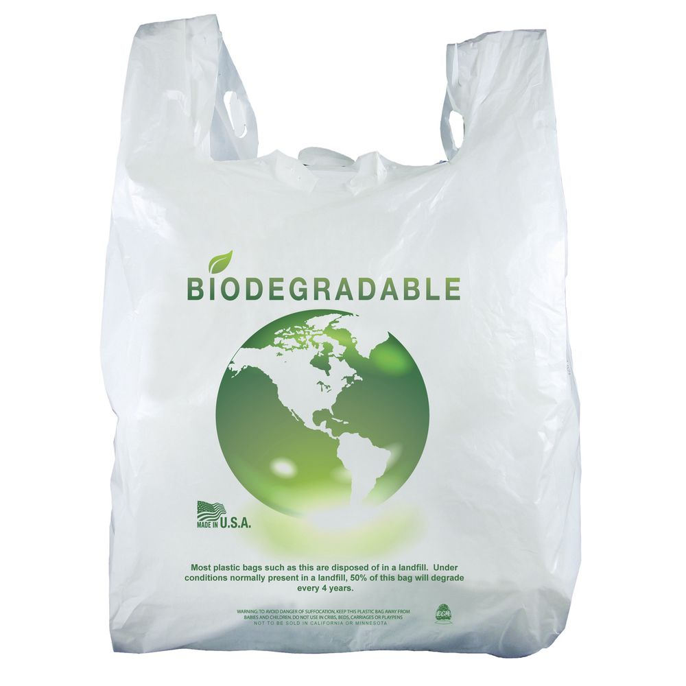 54 mil plastic tree graphic t shirt bag 12 w x 7 d x 22 h for Plastic t shirt bag