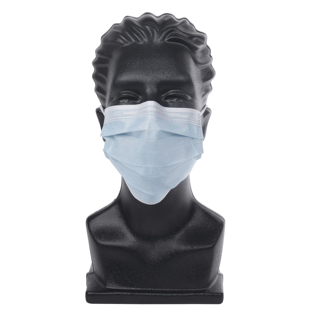 HUBERT<sup>®</sup> Blue 3-Ply Disposable Face Mask