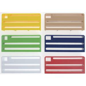 INSERTS FOR KNIFE RACK, SET/6, COLORED