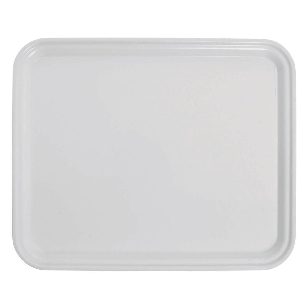 "|Cambro Rectangular Serving Tray  in White Fiberglass  12 3/4""L  x  10 1/2""W"
