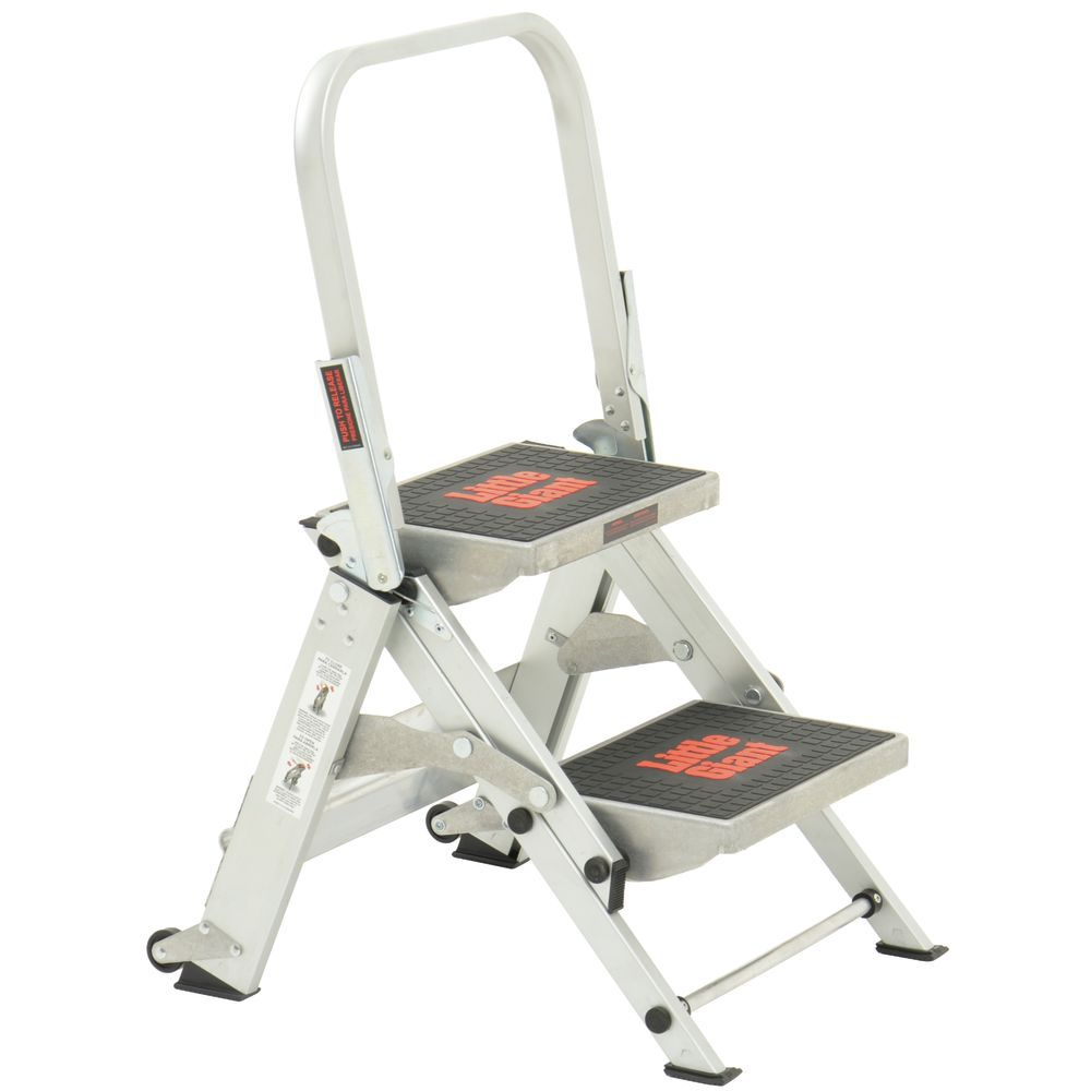Little Giant Aluminum 2 Step Safety Ladder 23 Quot L X 18 Quot H