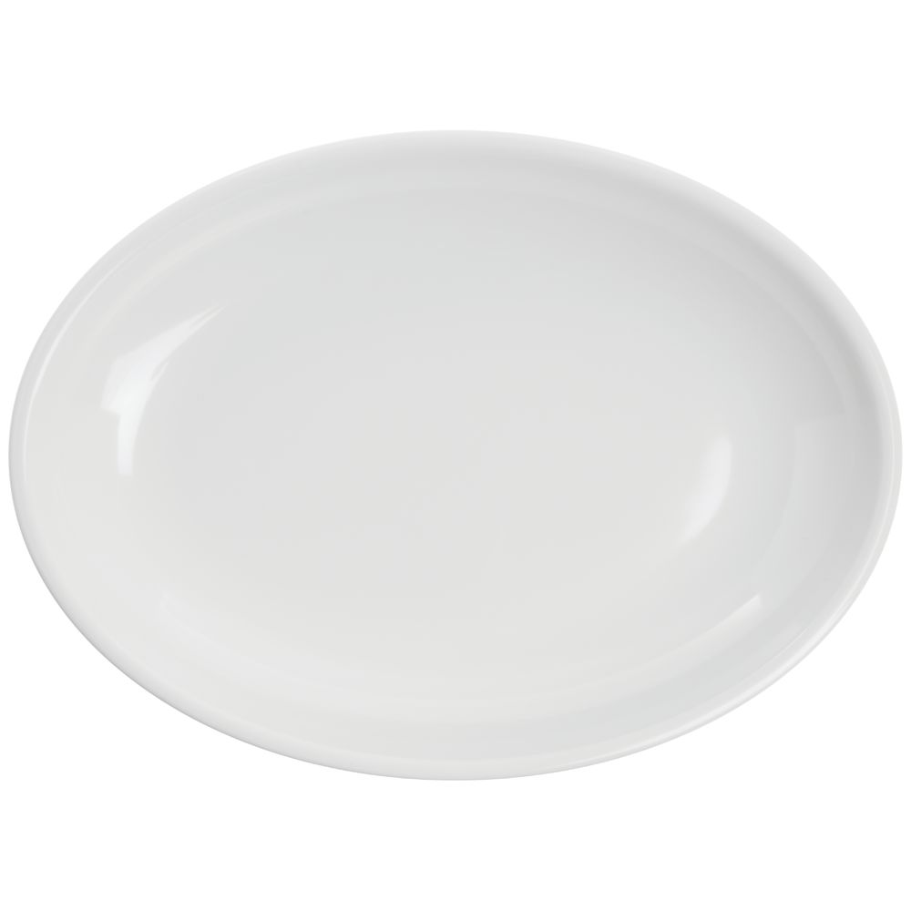 """BOWL, SHALLOW, OVAL, WHITE, 16""""LX2""""H"""