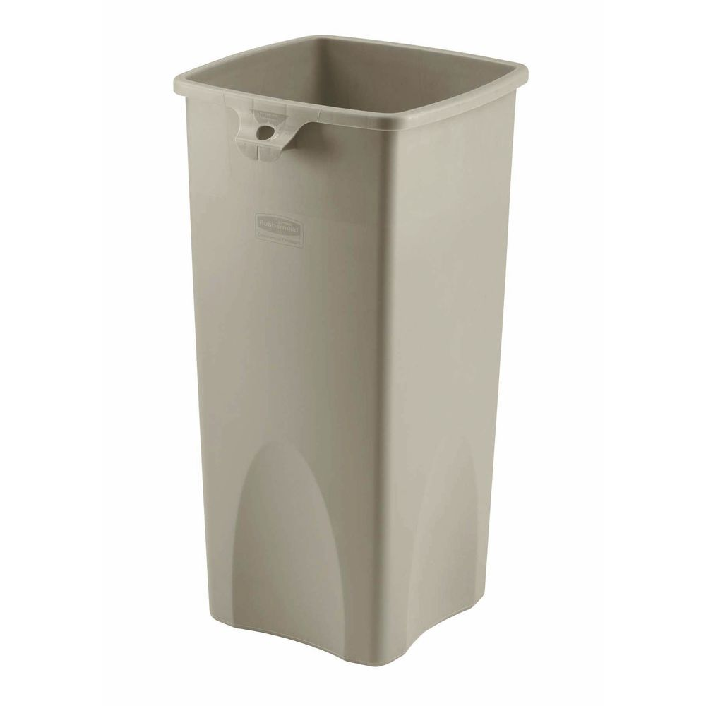 Rubbermaid 23 Gal Beige Plastic Untouchable Trash Receptacle Base