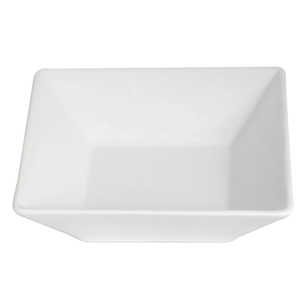 "BOWL, SQUARE, 7.75X7.75X2.36"", PORCELAIN"