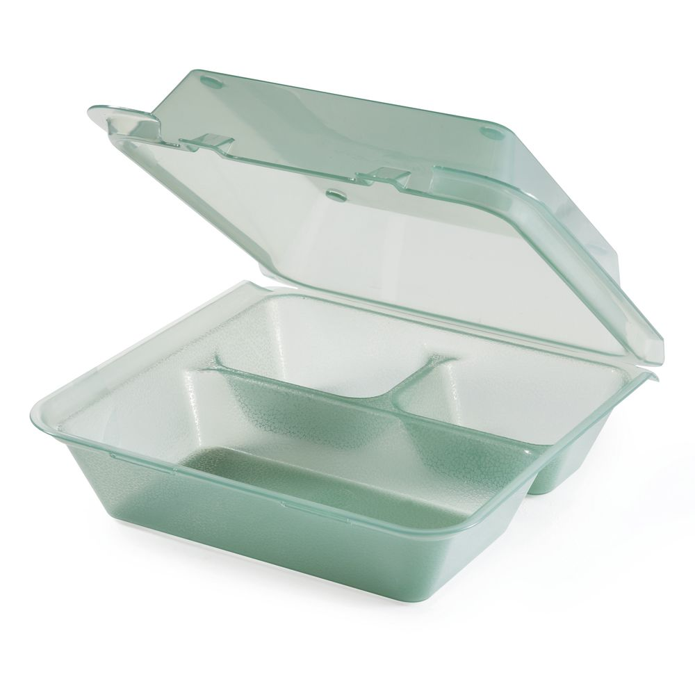 CONTAINER, ECOTAKEOUT, 3COMP, 9X9X3.5, JADE