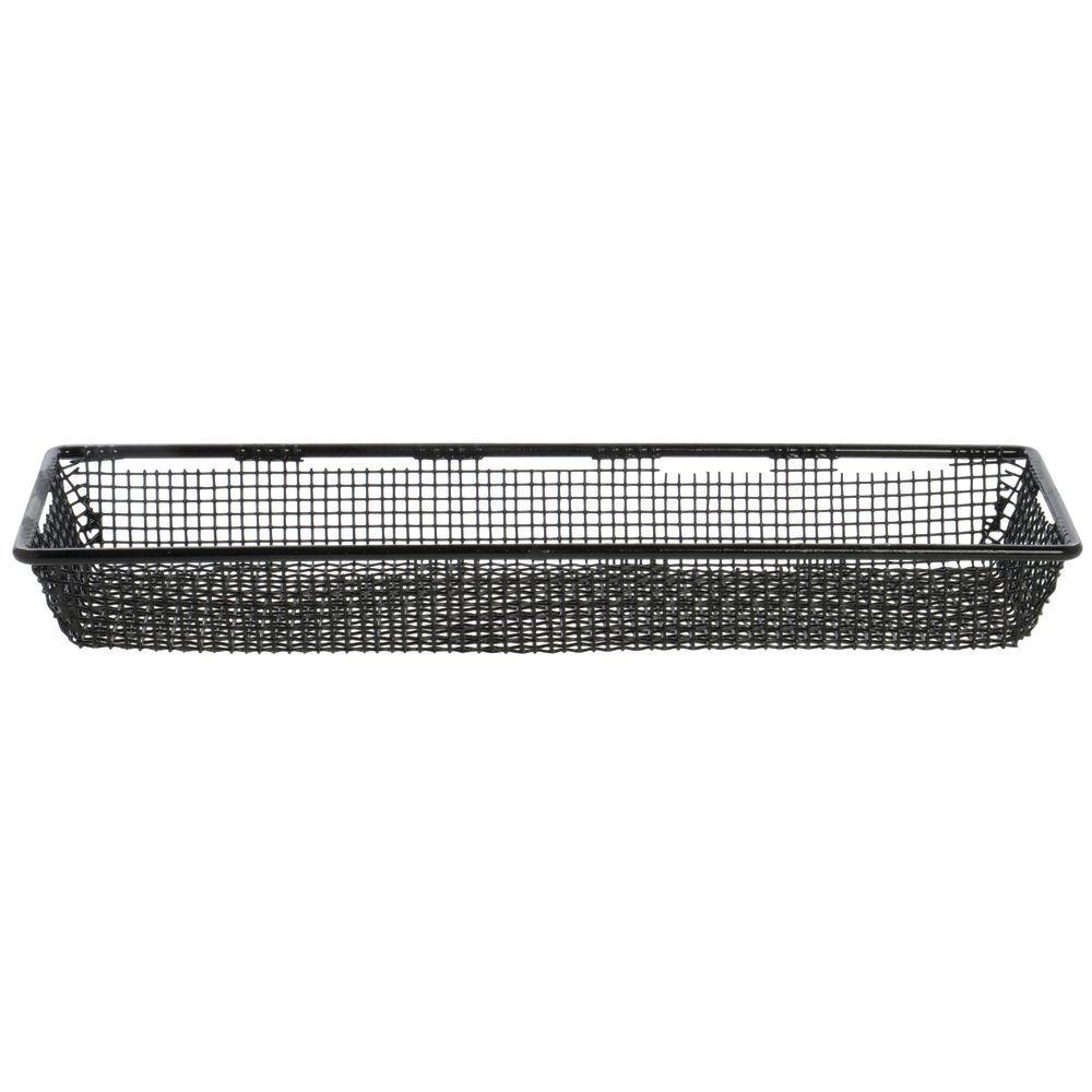 Expressly HUBERT® Rectangular Stainless Steel With Black PVC Coating Mesh  Basket - 18