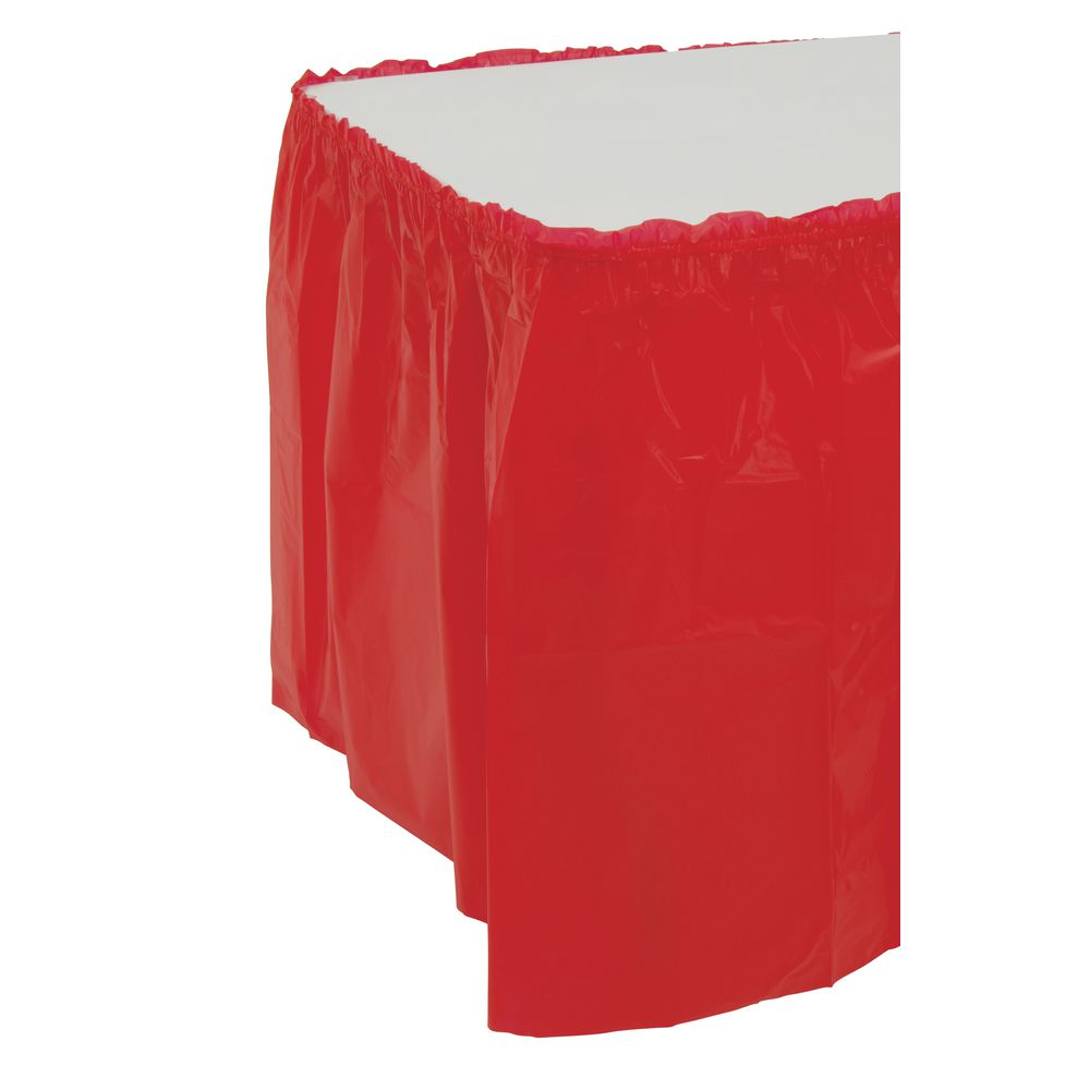 "SKIRTING, RED, 29""X14'"