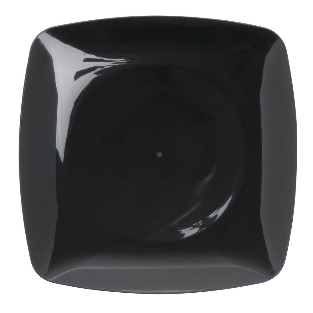 Fineline Settings Renaissance Square Black Plastic Disposable Plate - 5 1/2Sq  sc 1 st  Hubert.com & Fineline Settings Renaissance Square Black Plastic Disposable Plate ...