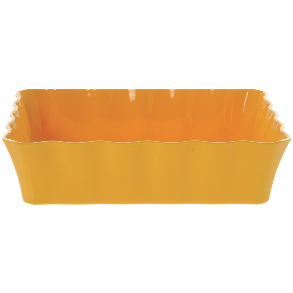 "Colored Deli Crocks / Serving Bowl in Yellow Melamine 10lb Capacity 12 1/4""L x 10 1/4""W x 3""H"