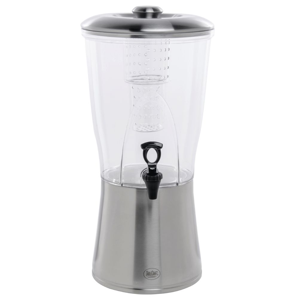 Tablecraft® Tritan Beverage Dispenser With Stainless Base and Lid 3.5 Gal