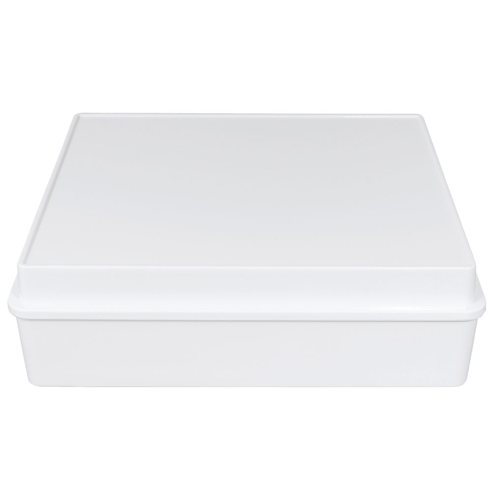 BOX, CABANA, MELAMINE, WHITE