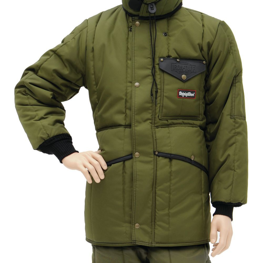 JACKET, INSULATED , GREEN, LARGE