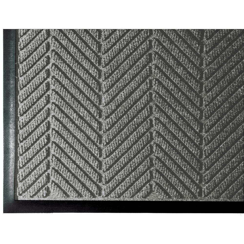 "WaterHog ECO Elite Entrance Floor Mat 6' L x 4' W Tri-Denier Fiber 3/8"" Thick  Gray Ash"