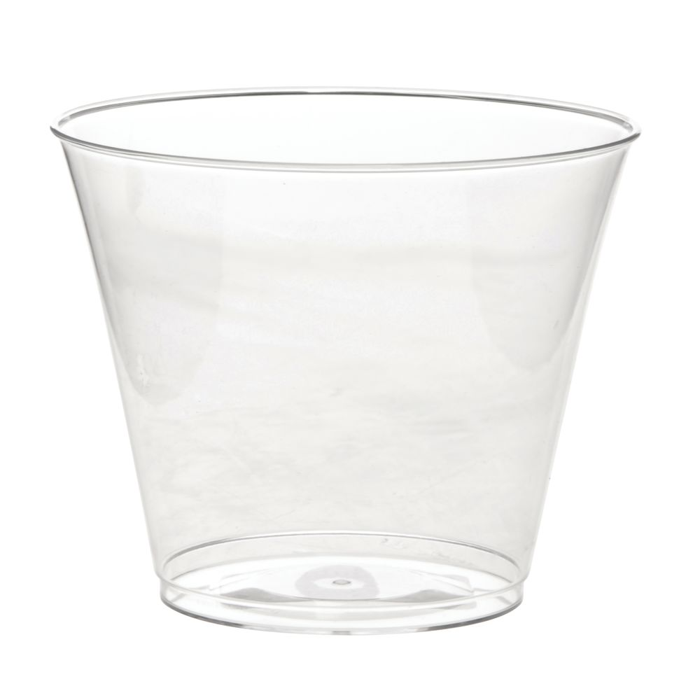 Disposable Clear Tumblers 9 Oz 500/Cs