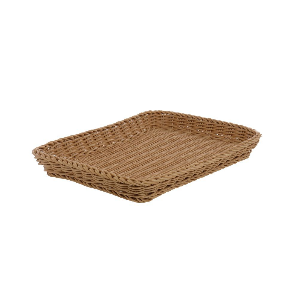 Beige Basket Serving Tray is Easy Cleaning