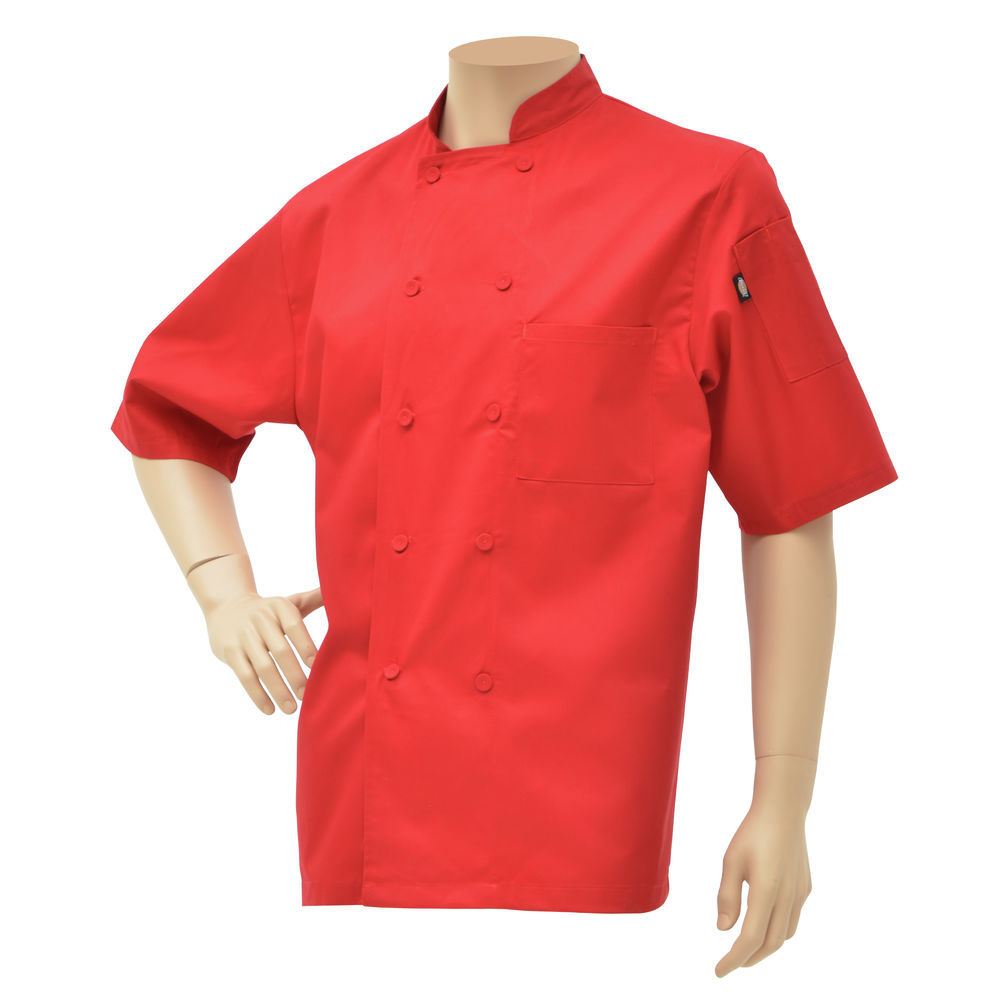 CHEF COAT, COOL BREEZE, RED, LARGE