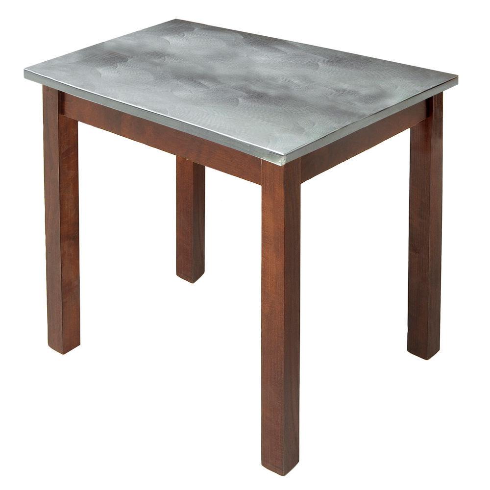 TABLE, GALV.TOP, MAHOGANY, 24LX20WX22-1/4H