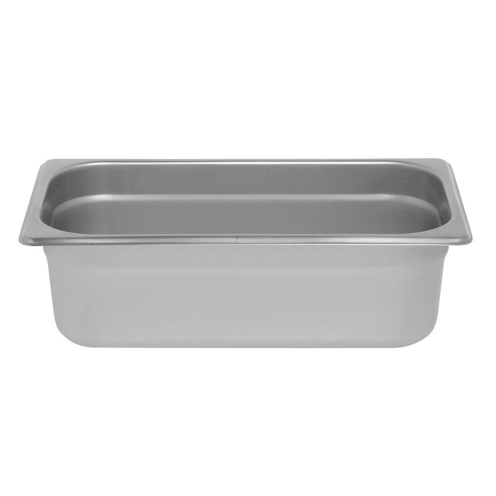 "PAN, STEAM TABLE, 1/3, S/S, 24 GAUGE, 4""D"