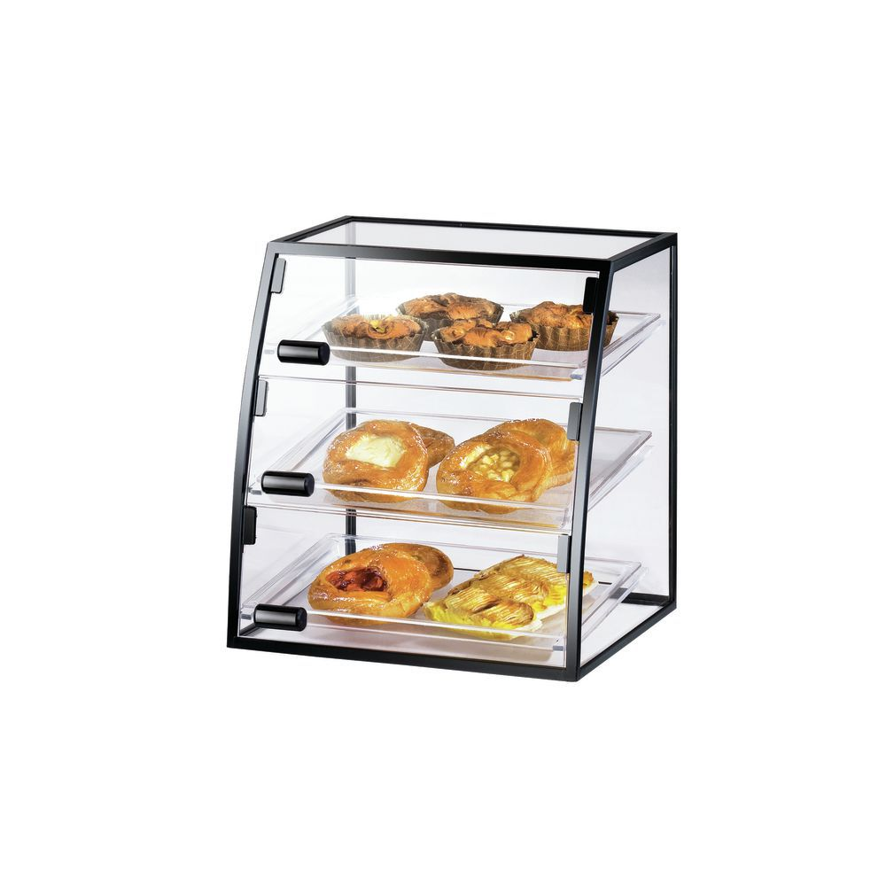 Countertop Bakery Display Case with Powder Coated Black Frame