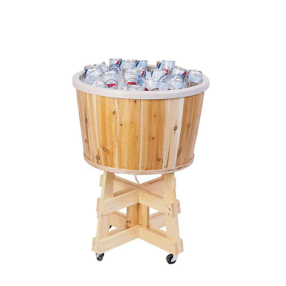 Beverage Tub on Stand with Removable Liner