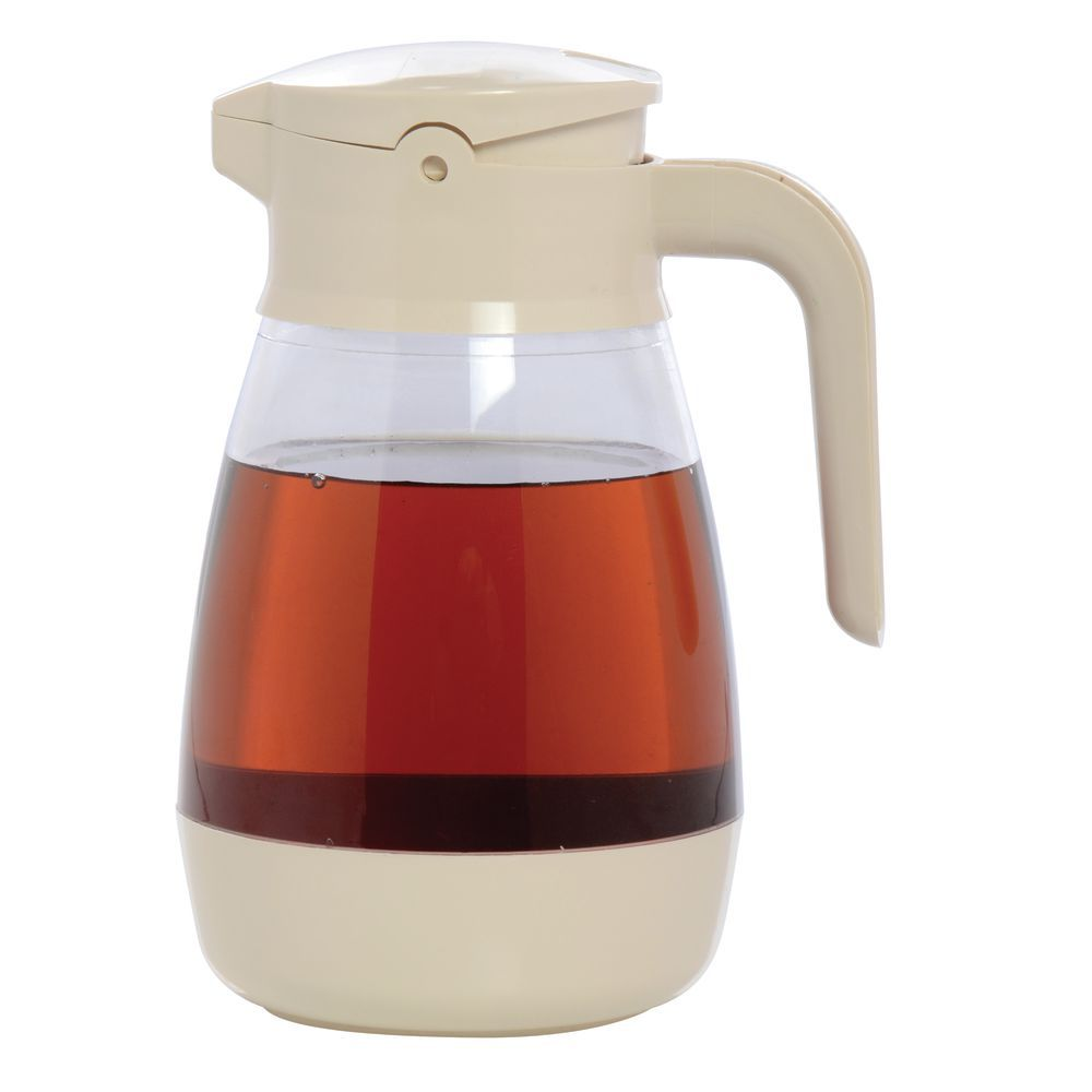 SYRUP DISPENSER, 16 OZ, ALMOND