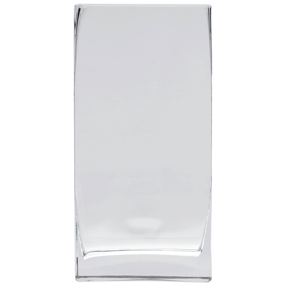 GLASS VASE, MODERNE, 8LX2.5WX16H
