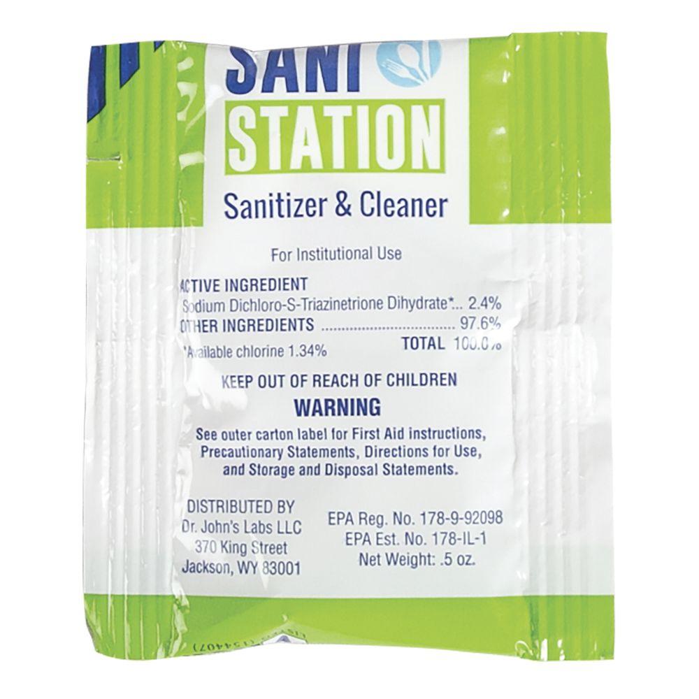 SANITIZER, 0.5 OZ PACKET, BX/100