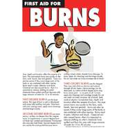 POSTER, FIRST AID, BURN CARE, 11X17