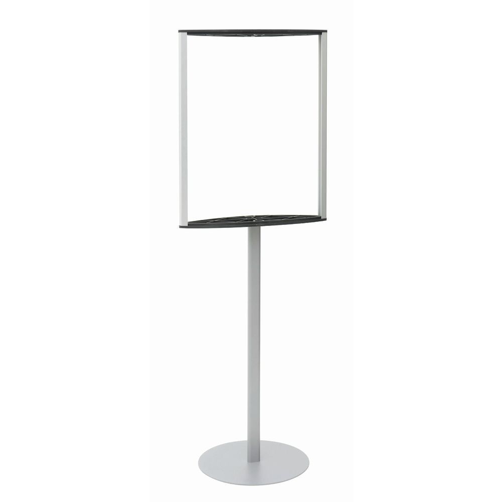 Convex Poster Stand, Silver