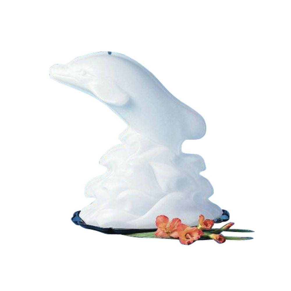 Carlisle White Plastic Disposable Dolphin Ice Sculpture Mold - 19\
