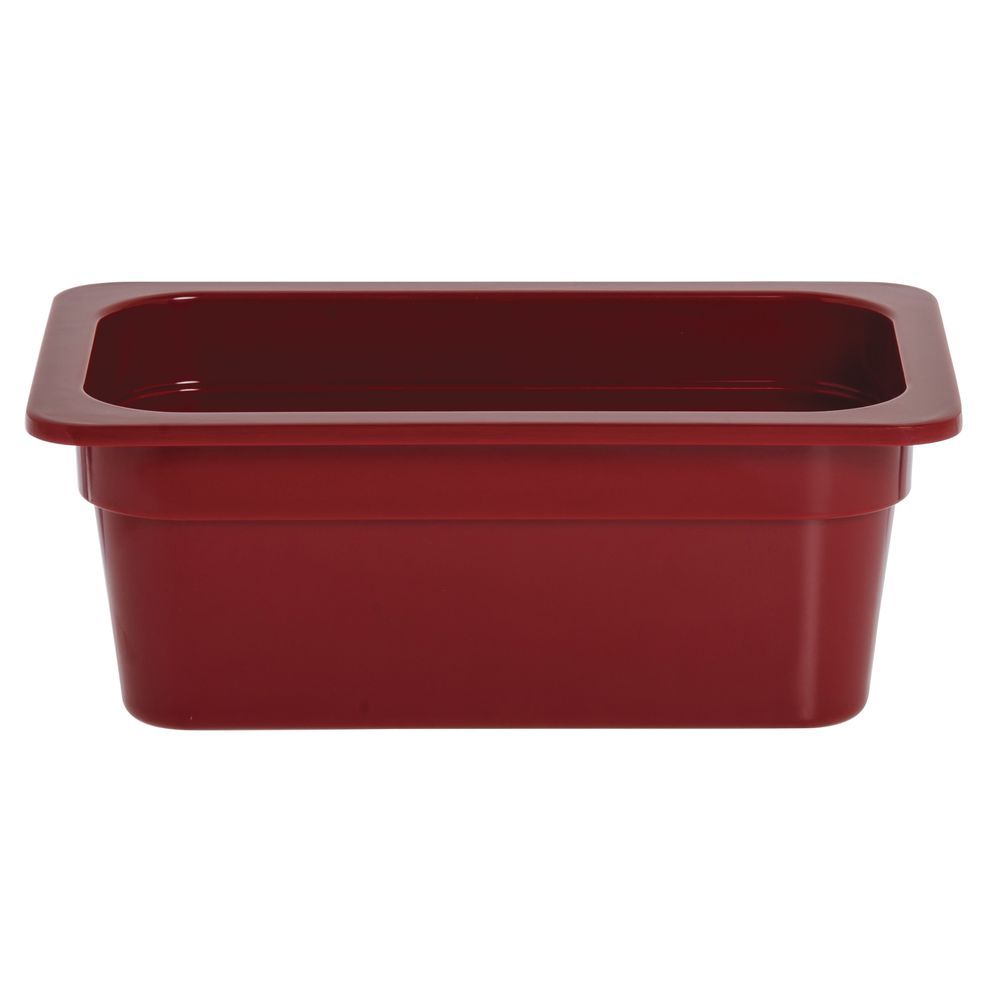 """Expressly Hubert® Fourth Size Melamine Pan 4""""D Red"""