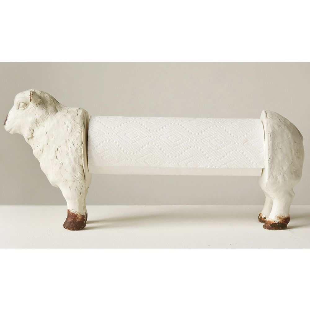 "PAPER TOWEL HOLDER, SHEEP, 15""L X 9""H"