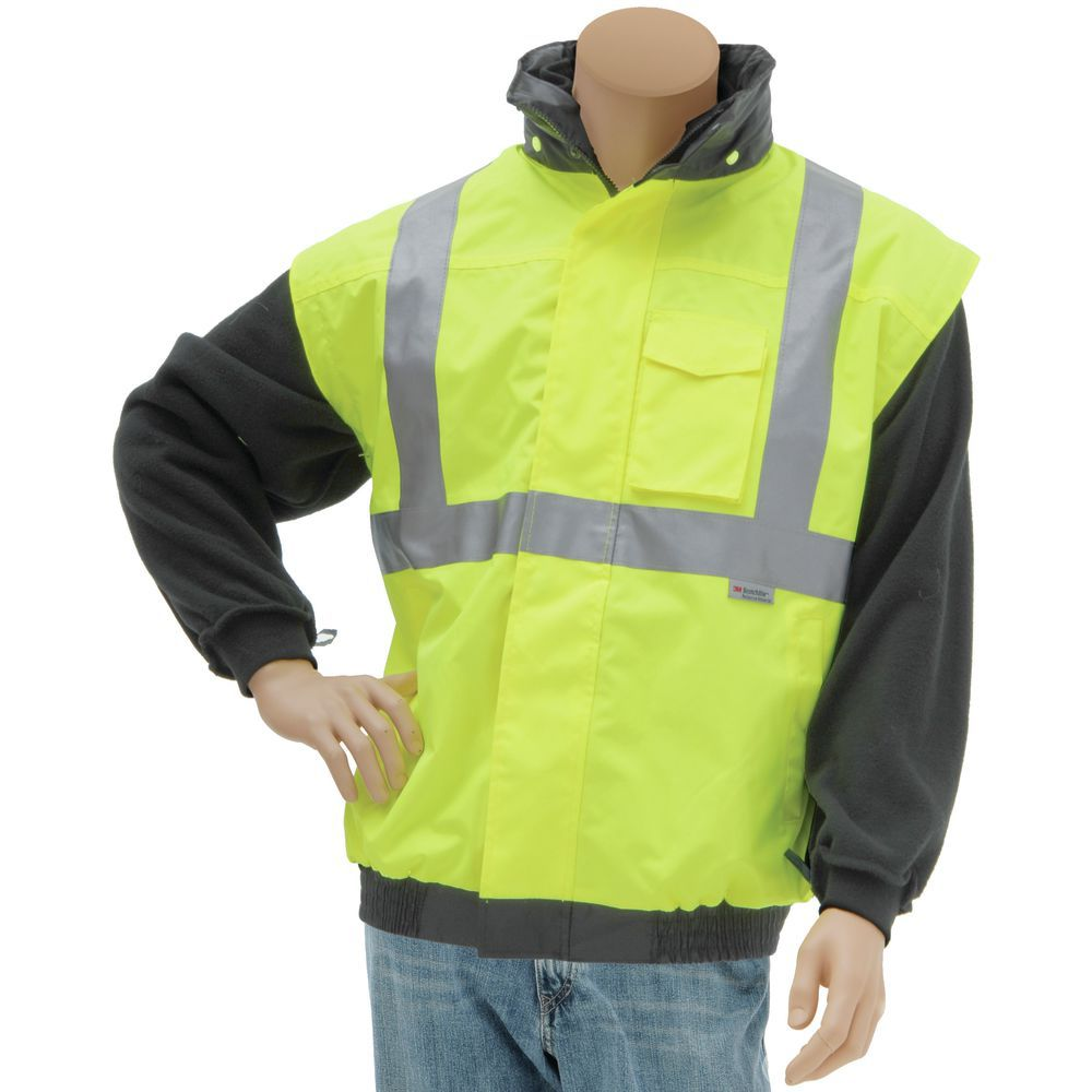 JACKET, BOMBER, HI-VIS, 4-WAY, S