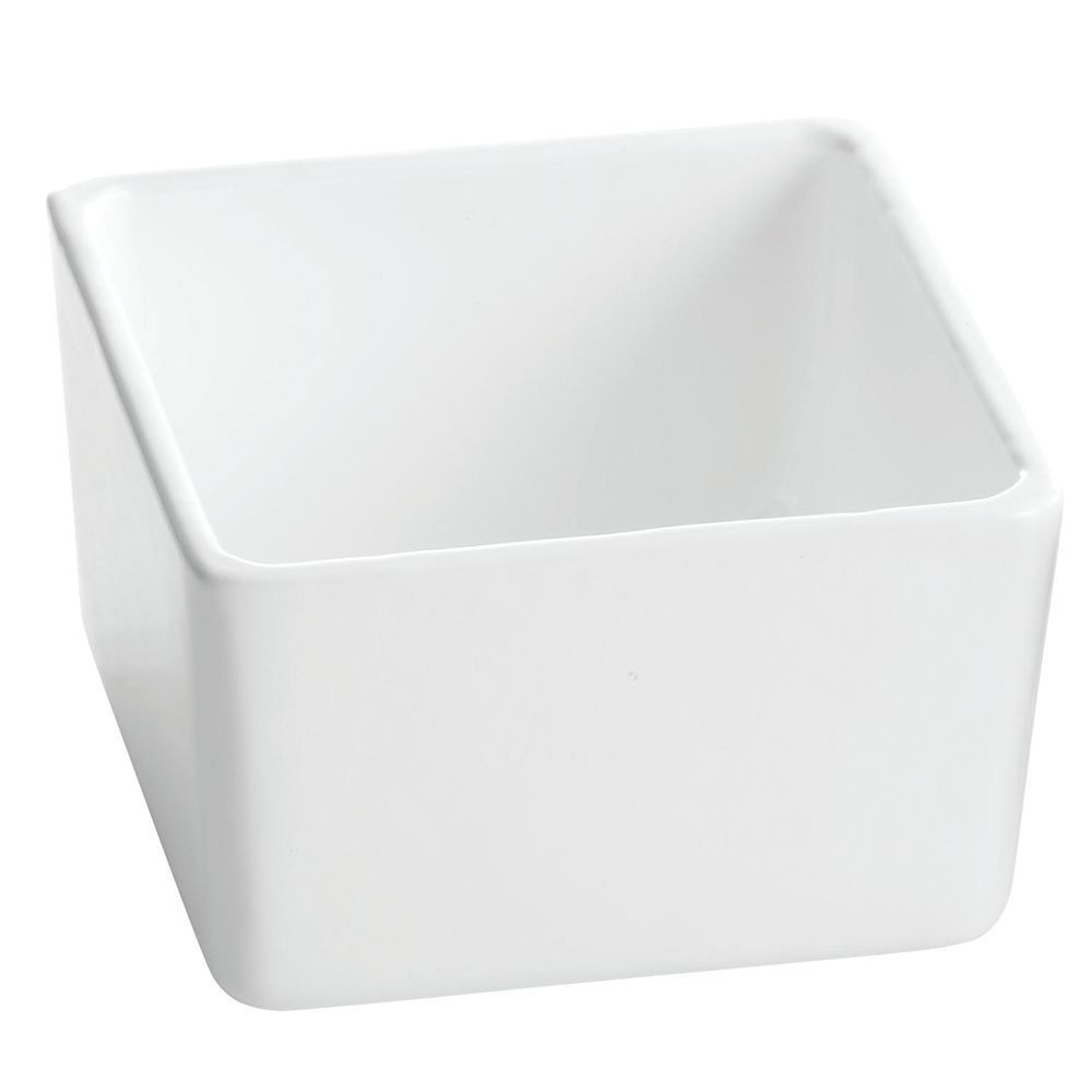 "Tablecraft® Square Bowl White 5"" Sq x 3""H"