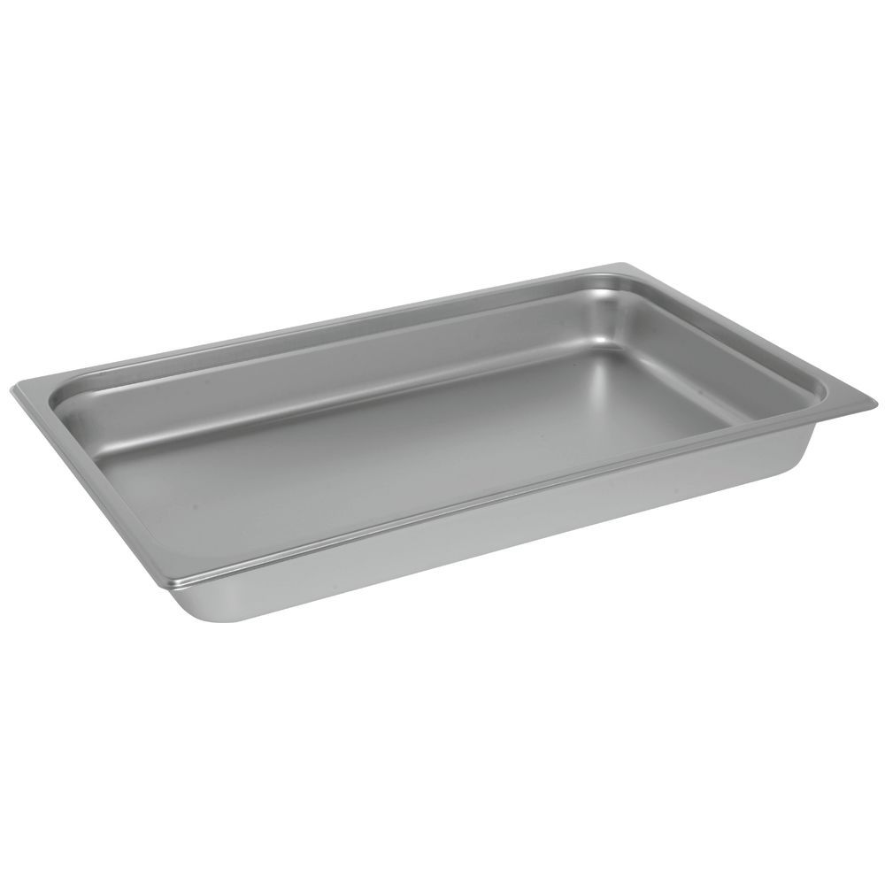 "PAN, STEAM TABLE, FULL, S/S, 24 GAUGE, 2.5""D"
