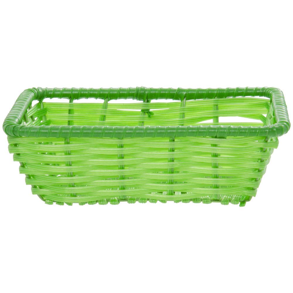 """Green Tri-Cord Washable Wicker Display Basket 10""""L x 7 1/2""""W x 3""""D"""