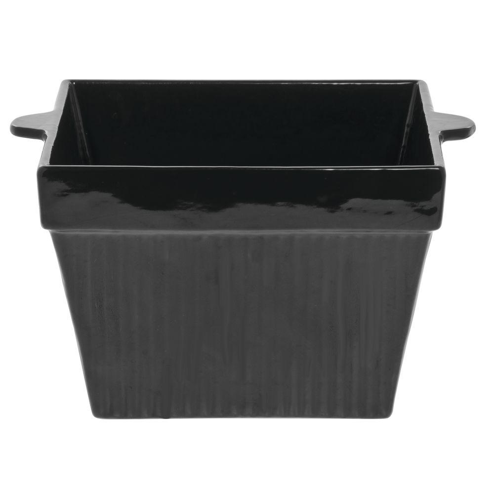 Tablecraft® Square Coated Aluminum Bowl 6 Qt 16 Oz Black