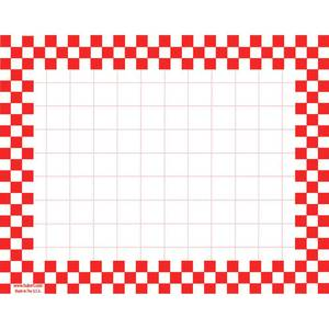 CARDS, CHECKERBOARD, 5-1/2 X 7, RED