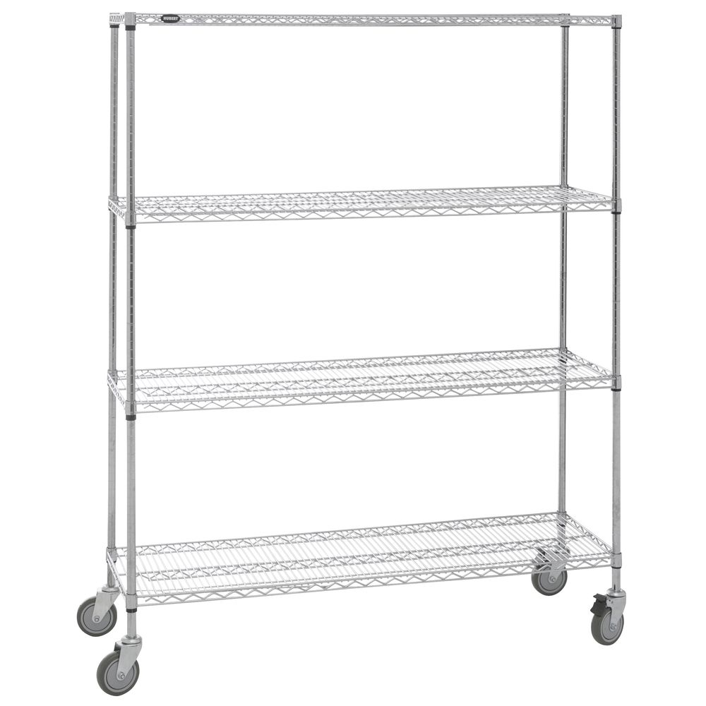 SHELVING, MOBILE, 18X60X78, CHROME PLATED