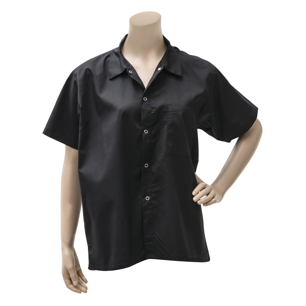 Chef Revival® Basic Cook's Shirt Black Large