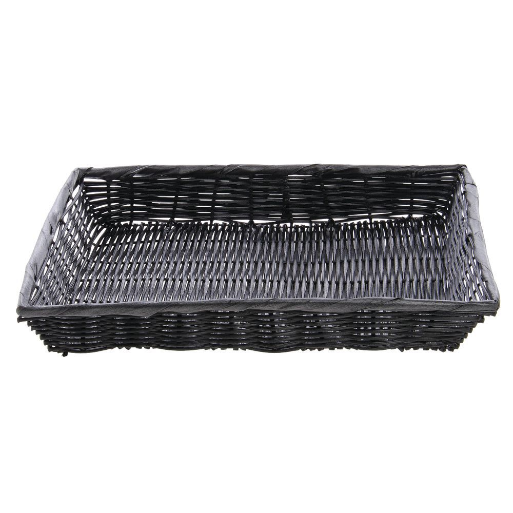 "BASKET, 16X12X2.5"", W/O HANDLE, BLACK"
